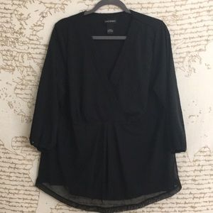 Lane Bryant Black Blouse